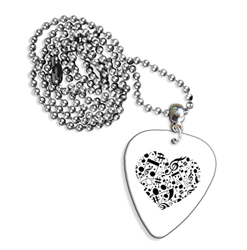 Music Love Heart Chitarra Pick Necklace Collana (GD)