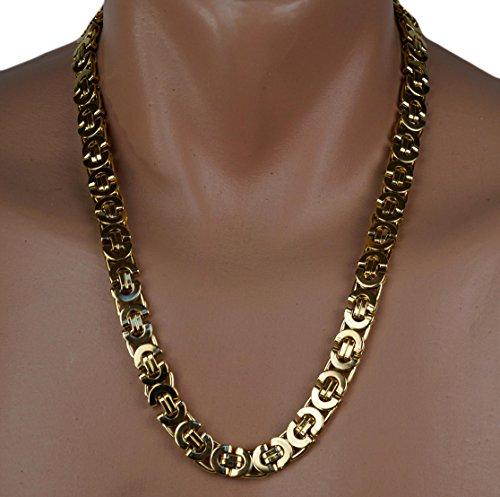 Luxus RE catena in acciaio inox catena uomo collana donna 10x 5mm, 57cm KK001oro