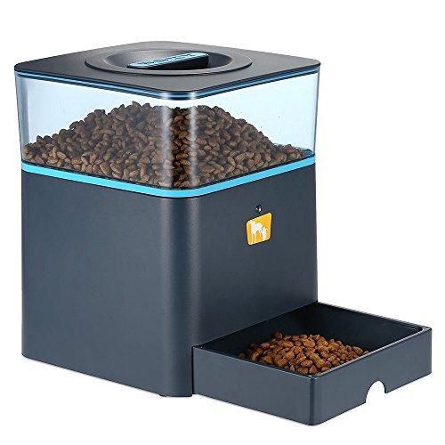 Anself Programmierbarer Automatischer Futterautomat Futterspender für Haustiere mit Manuelle Haustierfutter Fernbedienung Sprachaufnahme-Funktion 4.5L