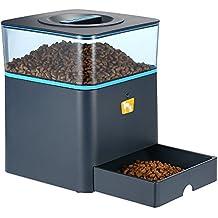 Anself - 4.5L Alimentador de Perros Mascotas Automático Programable de Lcd Pantalla, Mando a Distancia, con Aviso de Grabación de Voz