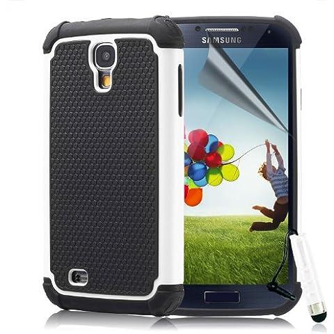 32nd® Funda rígida de Alta Protección para Samsung Galaxy S4 i9500, incluye protector de pantalla, paño de limpieza y lápiz optico -