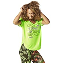 Zumba Fitness High Tops And Hip Hop Tulip Top mujer Tops, todo el año, mujer, color Get in Lime, tamaño large