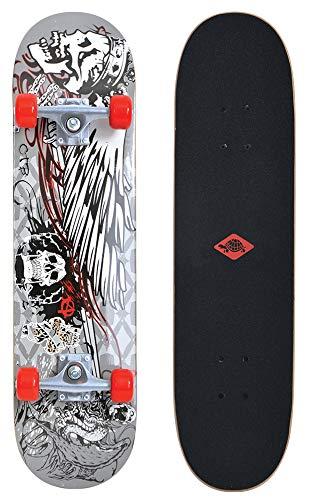 Schildkröt Unisex - Erwachsene Skateboard 31´´,Komplett-Board mit tollen Features für Einsteiger, konkave Deckform mit Doppel-Kick und Griptape, 9-lagiges Ahornholz, Phantom, 510601, One Size Phantom Skateboard Deck