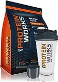 THE PROTEIN WORKS Proteína Vegana en polvo (Incluye Shaker y cacito GRATIS) - Galletas con nata - 1kg