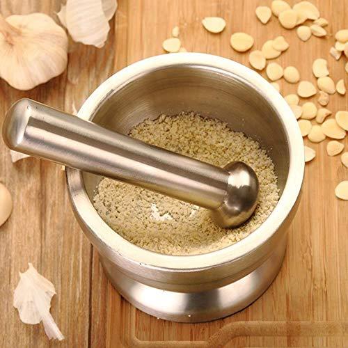 LIKEZZ 1 Satz Dauerhafter Haushalt Knoblauchschleifer Praktischer Knoblauchtopf für Drug Spice Knoblauch ohne Deckel, 1