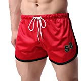 LuckyGirls Pantalones Hombre Cortos Chandal Originales Casuales Respirable Jogger Slim Fit Elasticos Músculo Running Pantalón (L, Negro)