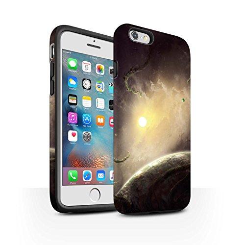 Offiziell Chris Cold Hülle / Matte Harten Stoßfest Case für Apple iPhone 6+/Plus 5.5 / Entfernten Stern Muster / Galaktische Welt Kollektion Entfernten Stern