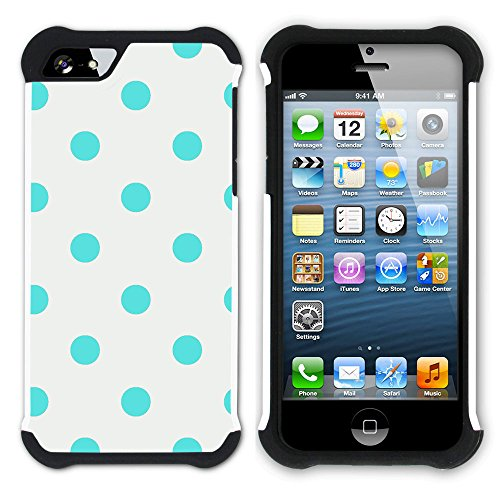 Graphic4You Regenbogen Punktmuster Tupfen Muster Hart + Weiche Kratzfeste Hülle Case Schale Tasche Schutzhülle für Apple iPhone SE / 5 / 5S Design #15