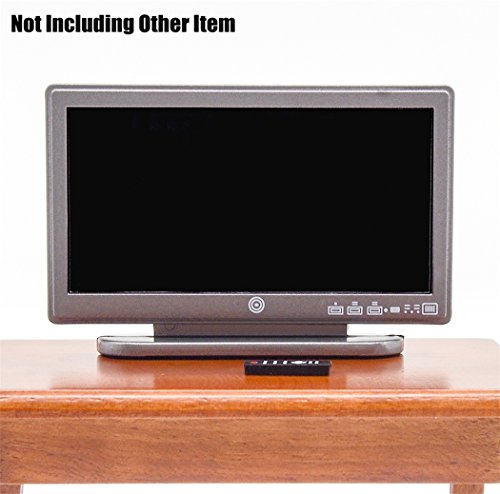 Preisvergleich Produktbild Odoria 1/12 Miniatur Fernseher mit Fernbedienung Für Puppenhaus Dekoration Zubehör
