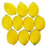 Juvale falso limoni–10pezzi frutti artificiali decorazioni, falso frutta decorazione per natura morta dipinti, vetrina, cucina Décor, giallo, 9,4x 6,3cm