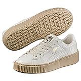 Puma Damen Basket Platform Patent Sneaker, Weiß Marshmallow, 39 EU