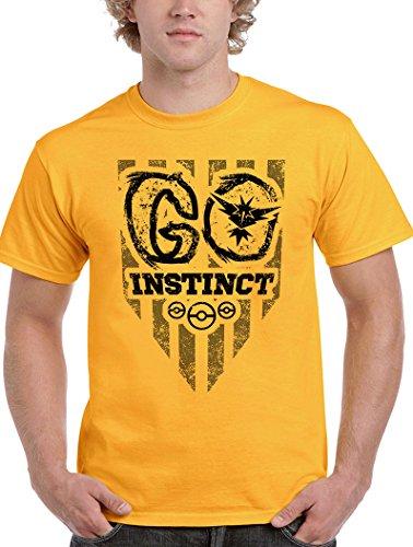 Camisetas La Colmena Herren T-Shirt Gelb gelb Gelbgold