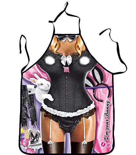 L-Peach Motiv Schürze 3D Maid Pattern Unisex Personalisierte Scherzartikel Lustige Kreative Küchenschürze Grillschürze für BBQ Party Geburtstaggeschenk Weihnachtsgeschenk Peach Küche