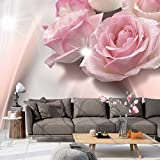 murando - Fototapete 400x280 cm - Vlies Tapete - Moderne Wanddeko - Design Tapete - Wandtapete - Wand Dekoration - Blumen Rosa b-C-0109-a-a