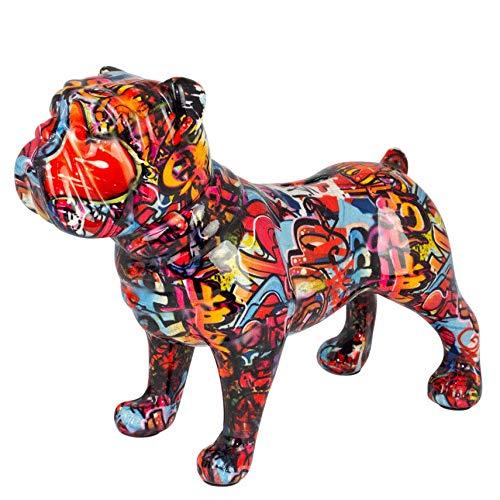 Pomme Pidou Spardose XL Bodhi's Big Max   Originale e Keramische English Bulldog Hund Grafitti Grosse Spardose   London Gratis Geschenkbox