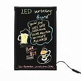 Tablet schreiben 30 × 40 cm blinkende beleuchtete löschbare Neon-LED-Schreibtafel-Menü-Zeichen mit Fernbedienung (EIN kompletter Satz - Fluoreszierende Markierungsstifte enthalten × 8)