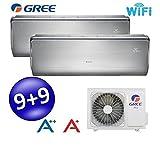 klimaanlage dual split inverter u-crown 2,5 + 2,5 btu gree eek a++/a+