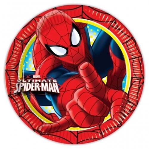 Spiderman Partei Plates/Platten (8pk)