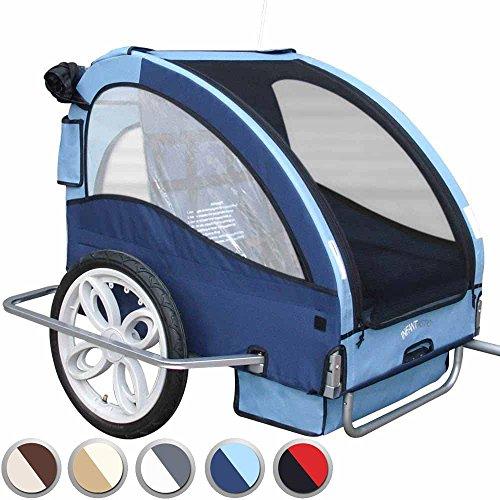 Infantastic Fahrradanhänger Kinderfahrradanhänger Fahrrad Anhänger Transportwagen mit Extras an Sicherheit in der Farbe Ihrer Wahl