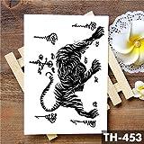 5Pc-Thailandia Thorn Tiger Totem Adesivo Tatuaggio Impermeabile Coraggio Tatuaggi Body Art Braccio Tatoo Tatuaggi Da Uomo Di G 02-Th-453