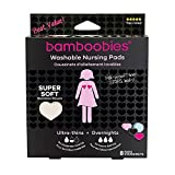 Bamboobies Super Soft Washable Nursing Pads - 3 Pair Ultra-Thin Regulars (Black, Hot Pink, Pale Pink) & 1 Pair Thick Overnight (Pale Pink)