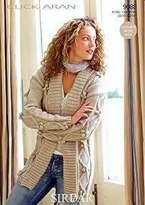 add429a76079 Sirdar Click Aran Ladies Knitting Pattern 9088  Amazon.co.uk ...