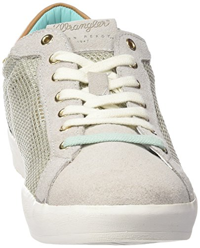 Wrangler Wave Low Mesh Damen Sneakers Grau (91  Ice)