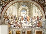 Poster 40 x 30 cm: Die Schule von Athen von Raffael - Hochwertiger Kunstdruck, Kunstposter