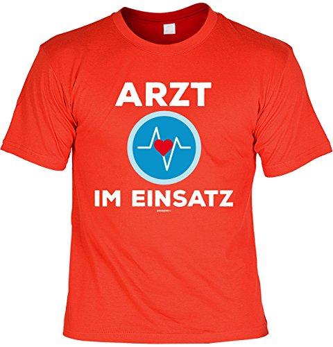 Fun Shirt mit Karneval Motiv: Arzt im Einsatz - Shirt für Fasching - Kostüm Alternative - Faschingskostüm - rot Rot