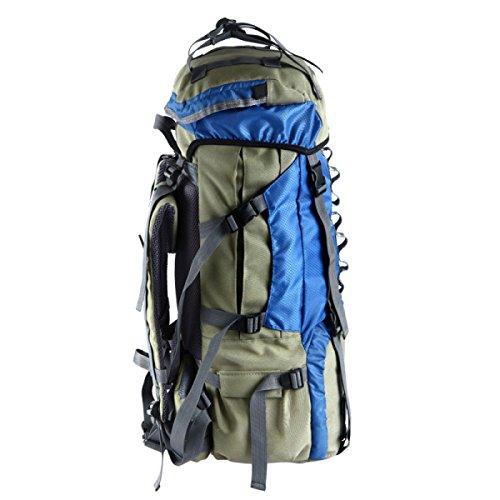 Zaino Da Sacco All'aperto Alpinismo Sacchetto Di Viaggio Di Grande Capacità Che Cammina Zaino Selvaggio,Gray Blue