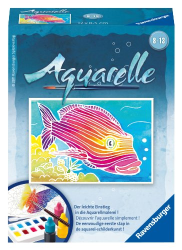 Ravensburger 29152 - Fisch - Aquarelle Mini, 8,5 x 12 cm