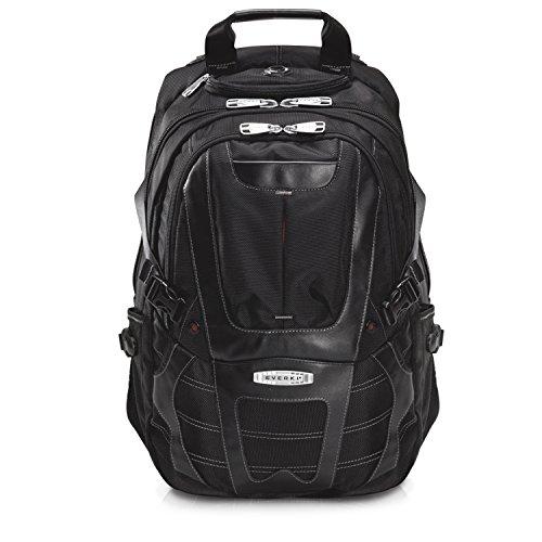 Everki Concept – Premium Laptop Rucksack für Notebooks bis 17,3 Zoll (43,9 cm) mit patentiertem Ecken–Schutz–System, Brillen-Hartschalenfach und weiteren hochwertigen Funktionen, Schwarz (Taschen Freundliche Checkpoint)