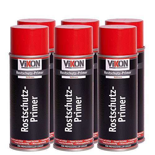 6 Dosen VIKON Rostschutz-Primer Spray Rotbraun 400 ml