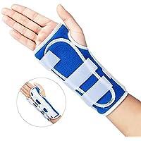 Muñequera Férula Pulgar antebrazo ajustable soporte de Muñeca para Esguince lesiones artritistúnel carpiano,dolor de muñeca para derecho y izquierdo (izquierda M)