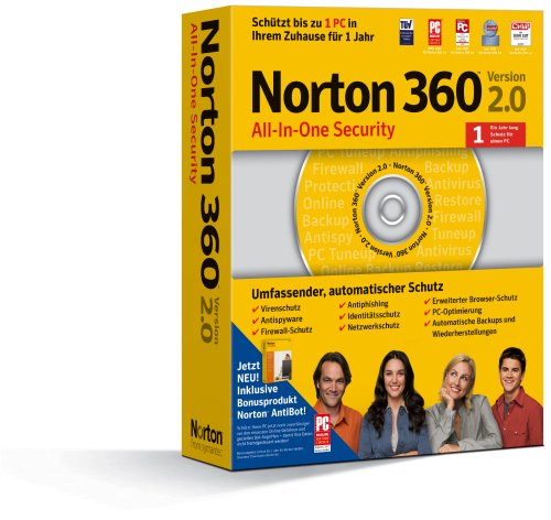 Norton 360 2.0 incl. Norton AntiBot 1 PC (2 Pc 360 Norton)