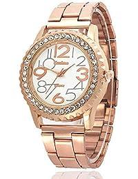 WSSVAN Ginebra Relojes Deportivos y de Ocio para Mujeres simulación de Moda Reloj de Cuarzo Diamante