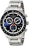 Tissot Men's 42mm Steel Bracelet & Case Swiss Quartz Blue Dial Chronograph Watch T0444172104100