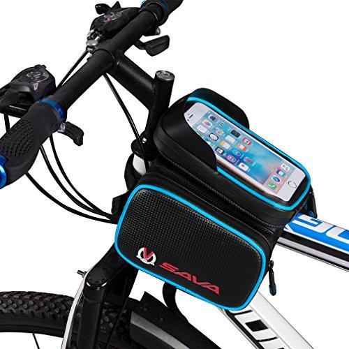 SAVADECK Bolsa Bicicleta Movil Bicicleta Funda Impermeable con PVC para Teléfonos Móviles...