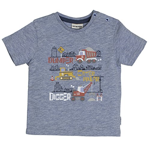 SALT AND PEPPER Baby-Jungen T-Shirt B Just Cool Digger, Blau (Cloud Blue 435), 80