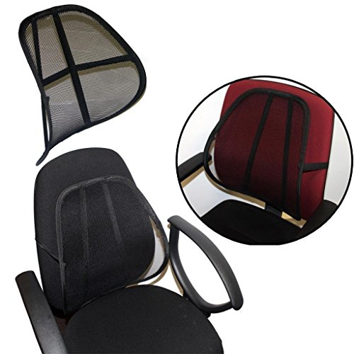 Preisvergleich Produktbild Best Sit Right Comfort Mesh Office Chair Seat Lumbar Back Support Cushion Silver