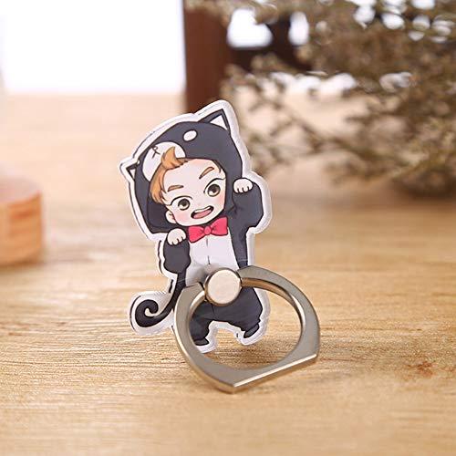 Saicowordist KPOP EXO Q-Version Handyhalterung Universal Phone Ring Schnalle Cartoon Handy Zubehör Hut Hot Geschenk für Fans(XIUMIN)
