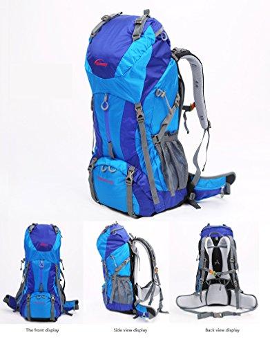 65 L Sac à dos de randonnée Bleu Bleu 22*80*25cm
