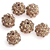 Beautiful Bead10mm Rose Gold Crystal Rhinestone Disco Ball Beads For Bracelet Making?(10pcs) By Beautiful Bead