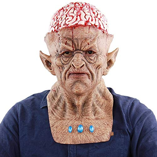 Burst Full Kostüm - LIZHIOO Maske Evil Devil Bloody Burst Brains Monster Zombie Clown Gruselige Masken Horrible Adult Latex Vollgesichtsmaske for Halloween