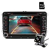Junsun autoradio 7 pouces VW 2 Din HD Bluetooth stéréo FM multimédia player Écran tactile USB / AUX Entrée AUX avec HD caméra de marche arrière divertissement de voiture