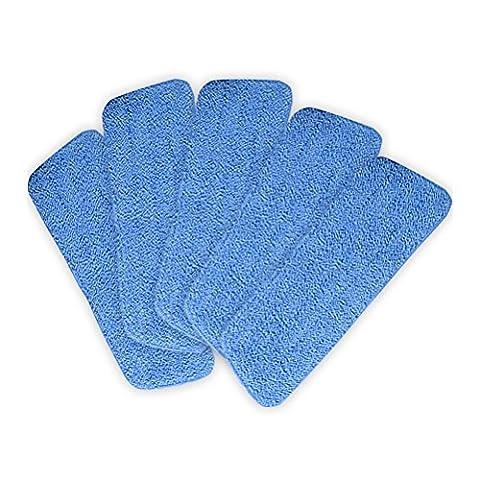 OUNONA 5pcs Balai Microfibre Floor Mop Refill,16.5 * 5.1 inch(Blue)