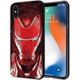 CellKraft Licensed Marvel Iron Man Hard Back Case Mobile Cover for Apple iPhone Xs & X (Multicolour)