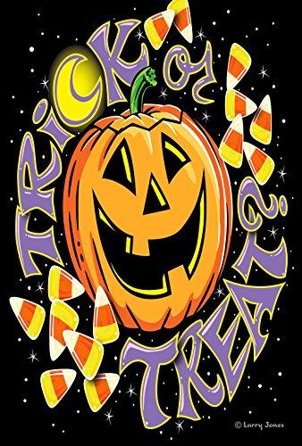 Toland Home Gartenflagge, 31,8 x 45,7 cm, dekoratives Halloween-Jack-o-Lantern Candy Mais, doppelseitig