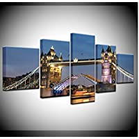 sxkdyax No frame London Bridge Wallpaper 5 piece Wallpapers modern Modular Poster art Canvas painting for Living Room Home Decor