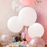 GuassLee 5 Riesenballons 36 Zoll Runde Latex Big Ballon Große Dicke Ballons Fotoshooting / Geburtstag / Hochzeit / Festival / Event / Karneval Dekorationen Weiß